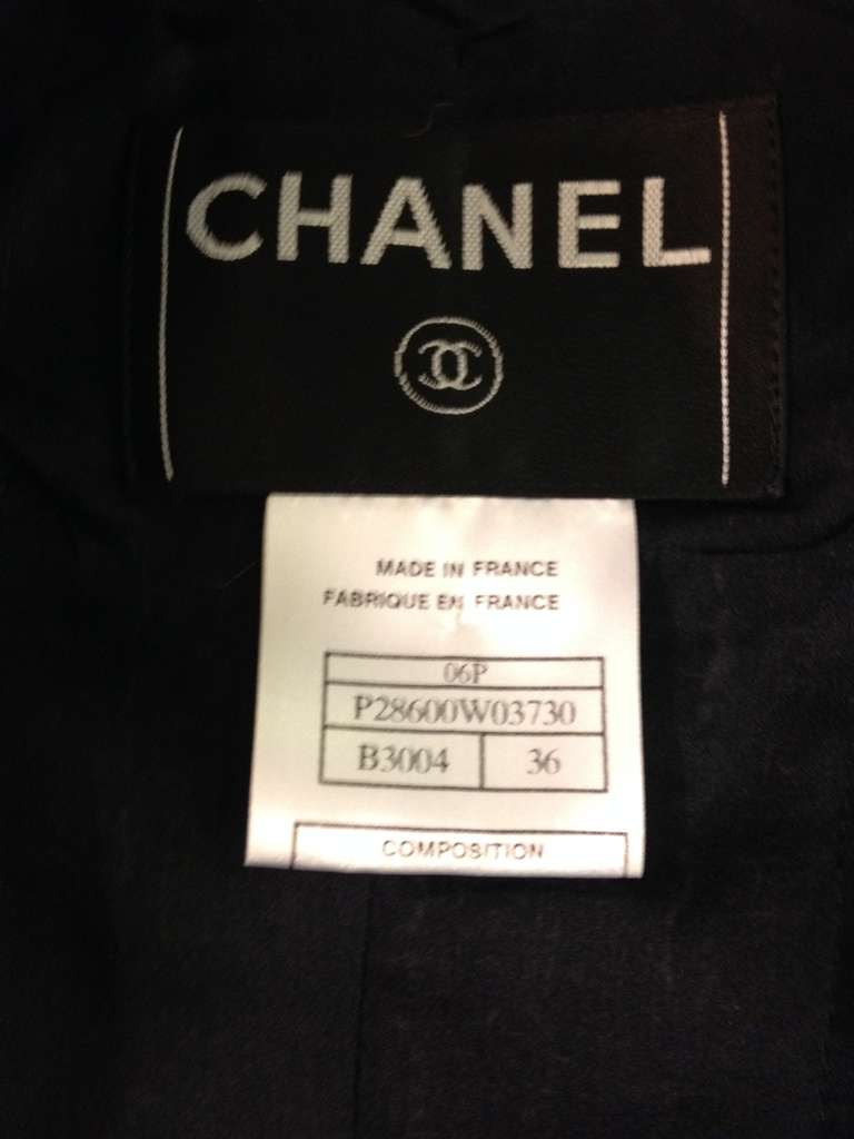Chanel Navy and Brown Tweed Jacket 7