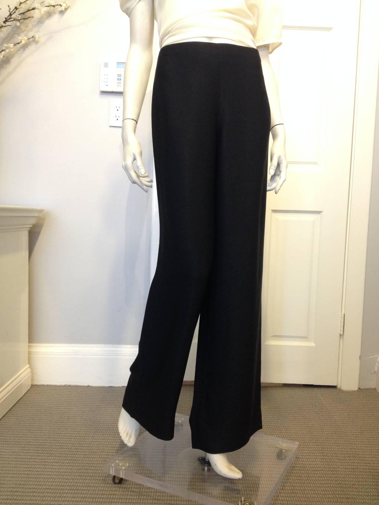 The Row Black Twill Wide-Leg Pants 3