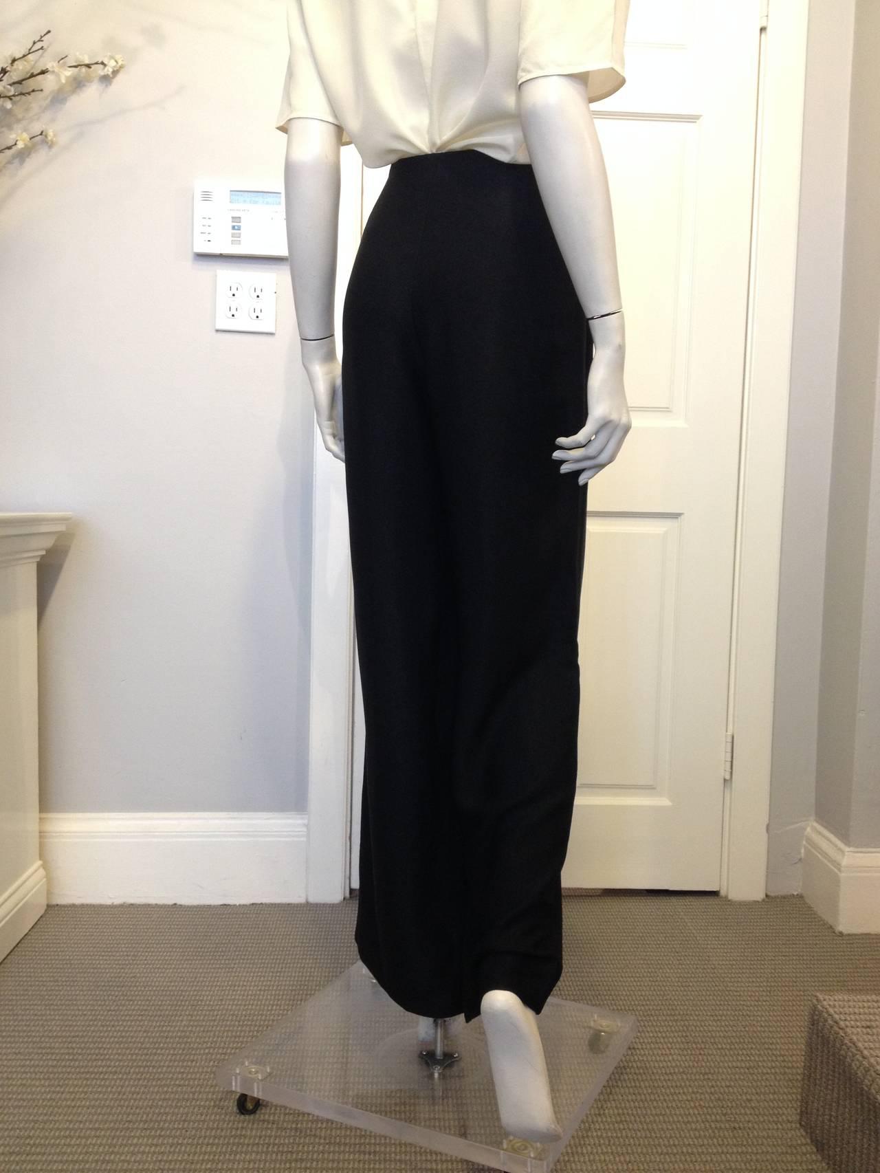 The Row Black Twill Wide-Leg Pants 4