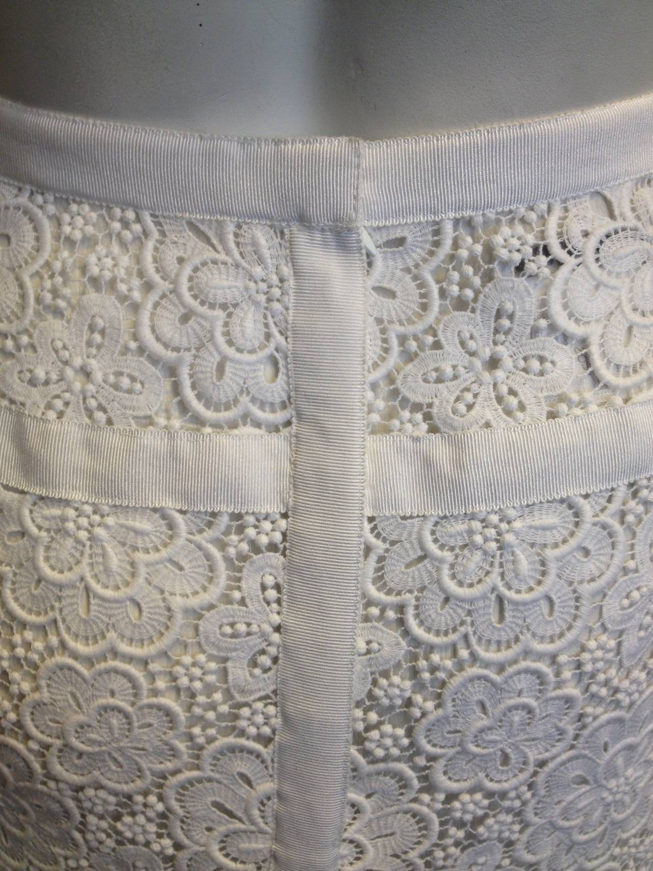 Chanel White Lace Skirt 5