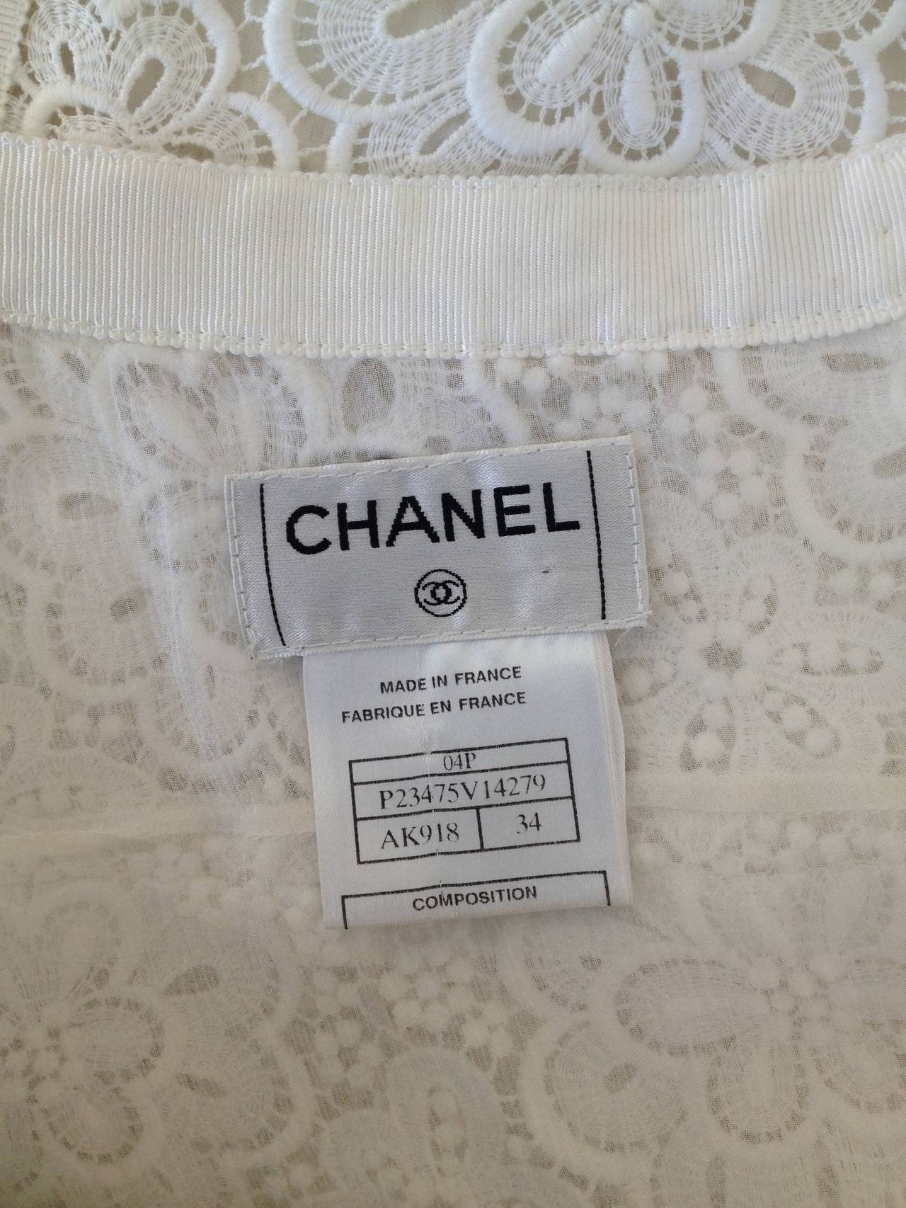 Chanel White Lace Skirt 7