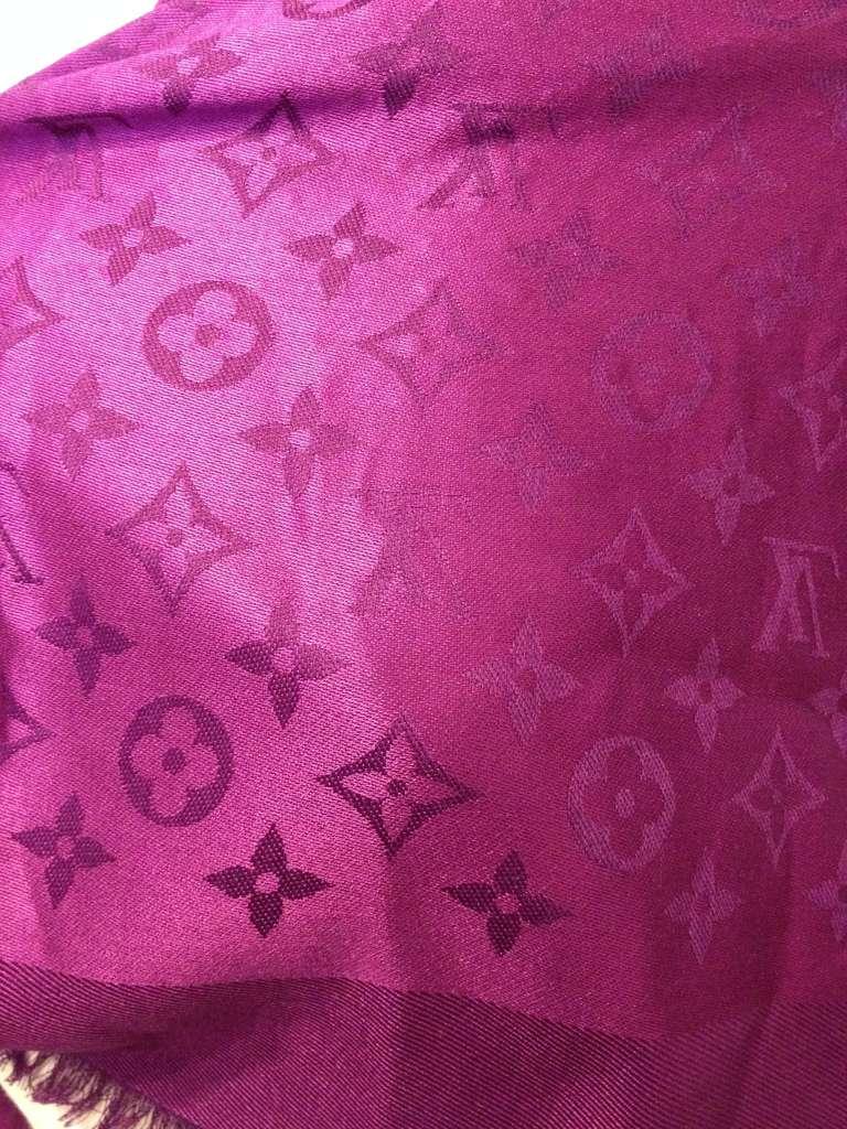 Louis Vuitton Magenta Monogram Shawl 2