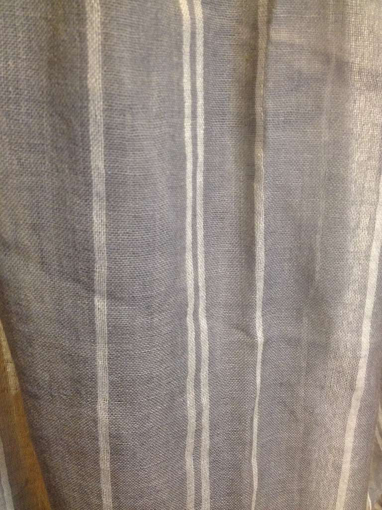 Denis Colomb Gray Cashmere Scarf 4