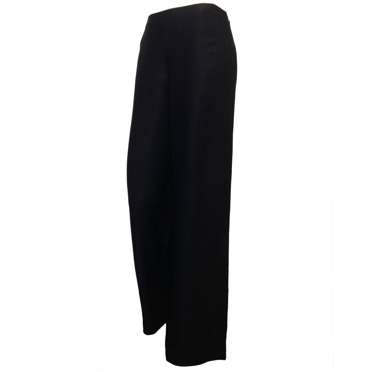 The Row Black Twill Wide-Leg Pants