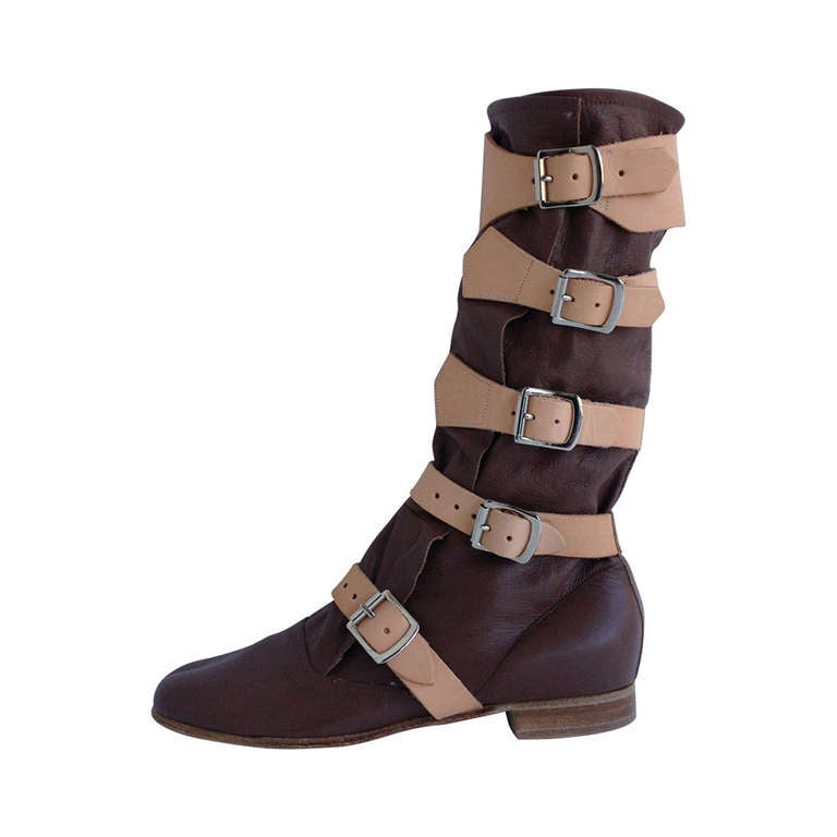 vivienne westwood brown pirate boots at 1stdibs