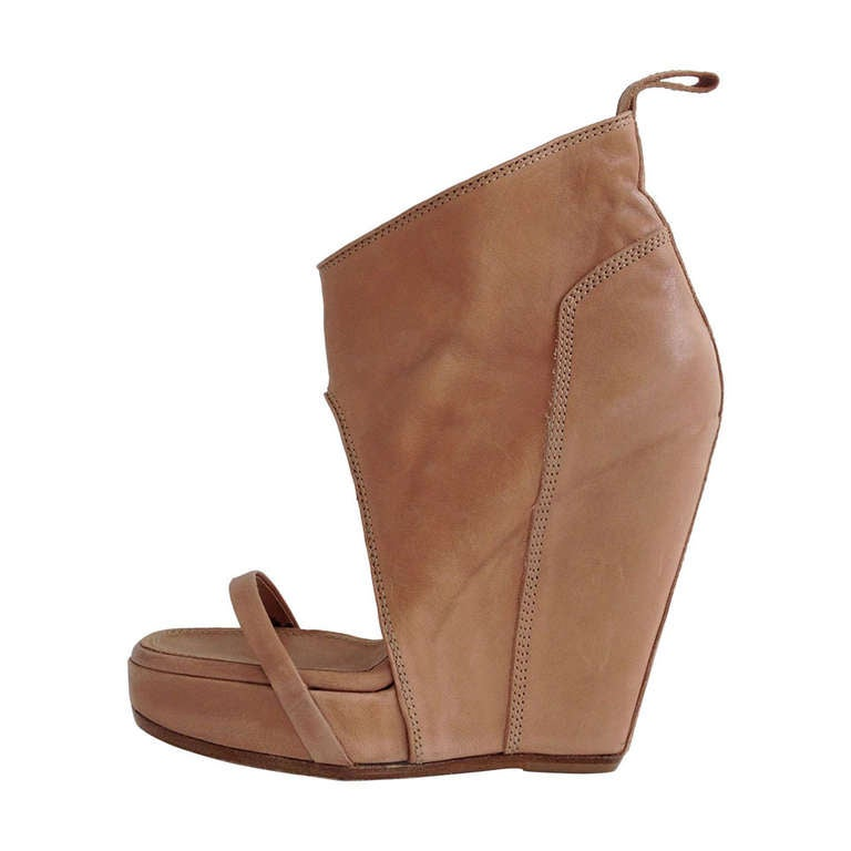Rick Owens Cutout Wedge Sandal Boots 1