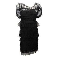Nina Ricci for Barneys Black Lace Dress