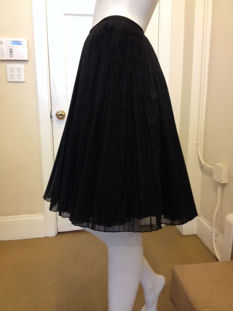 Kaufmanfranco Black Pleated Full Skirt 2