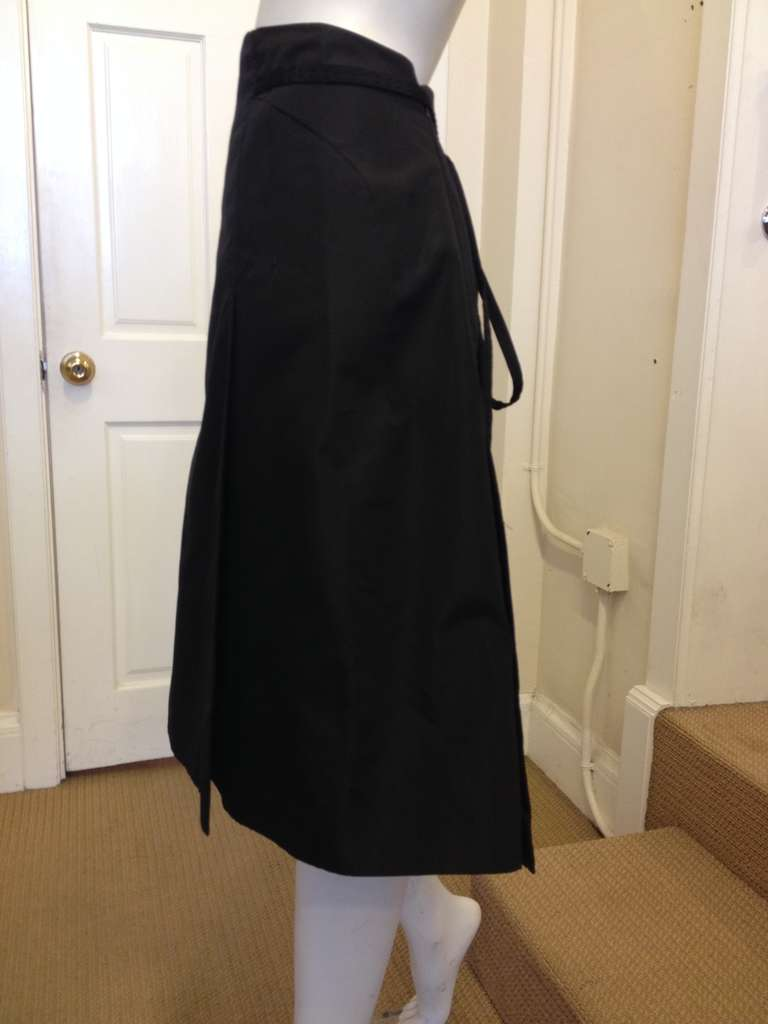 Chado Black A-line Skirt In Excellent Condition For Sale In San Francisco, CA