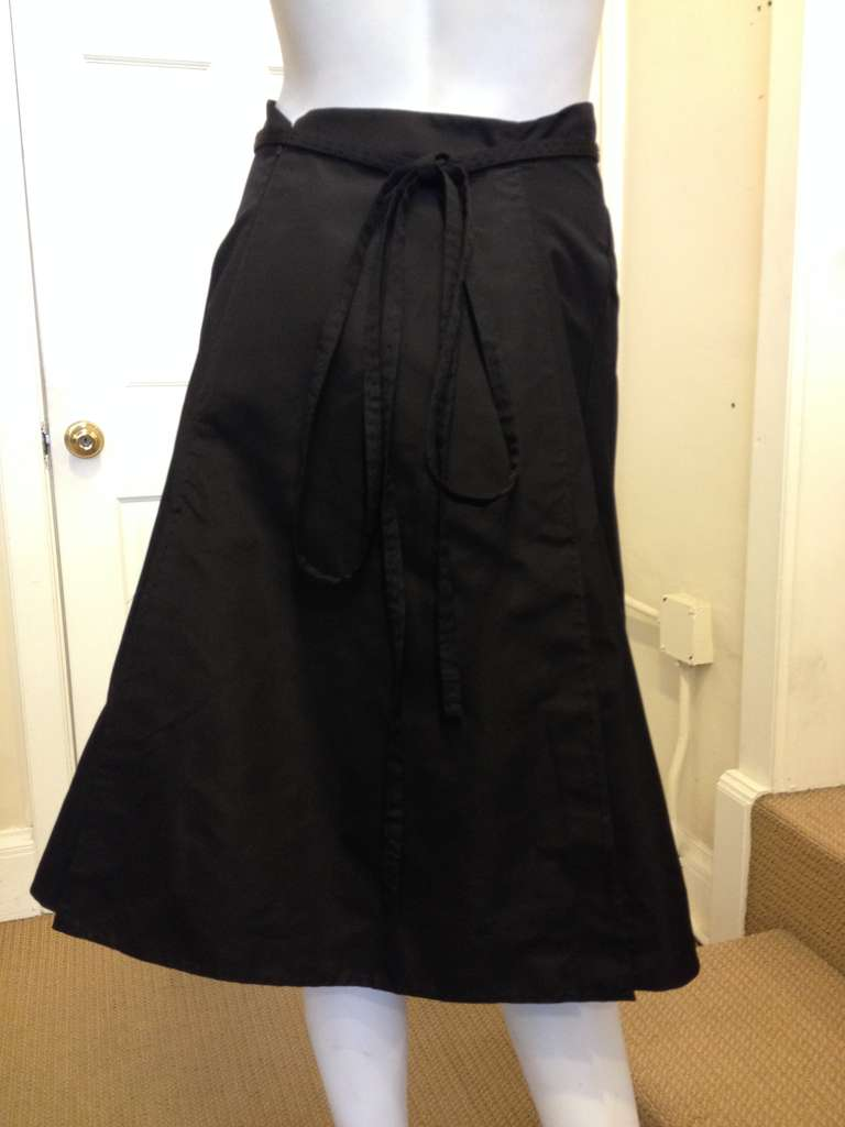 Women's Chado Black A-line Skirt For Sale