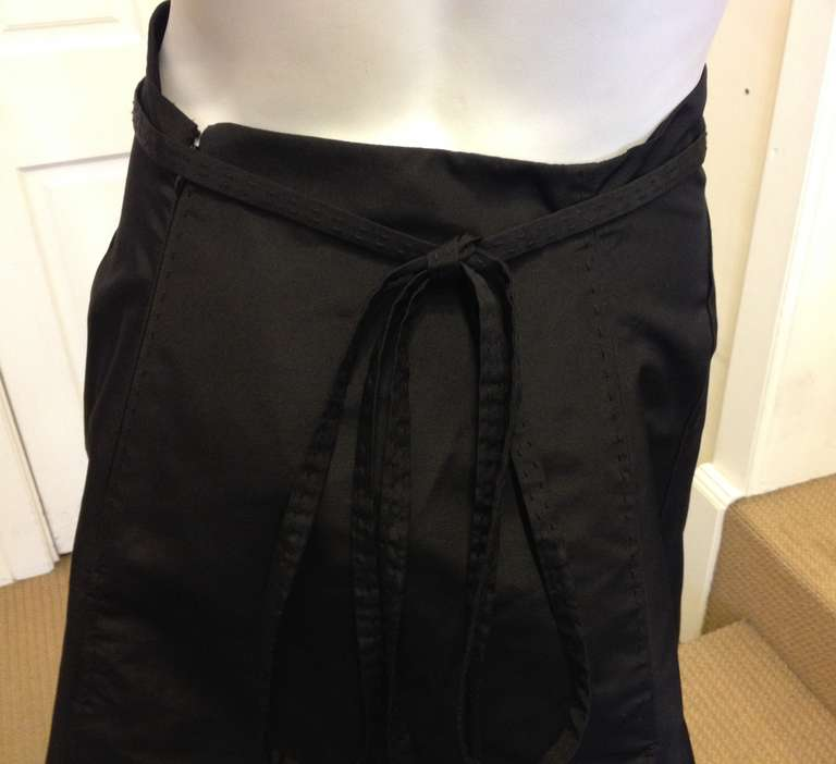 Chado Black A-line Skirt For Sale 1
