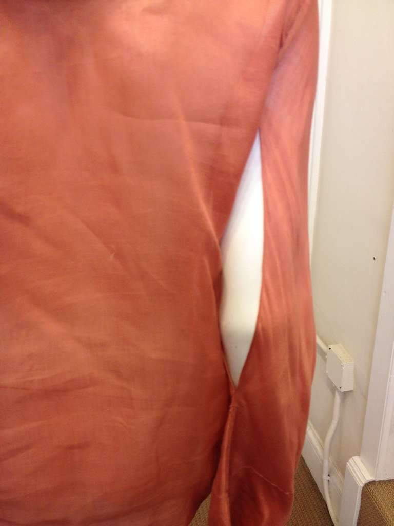 Women's Gucci Coral Ruffled Blouse For Sale
