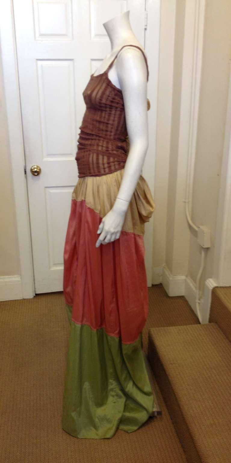 Jean Paul Gaultier Multicolor Maxi Dress In Excellent Condition For Sale In San Francisco, CA