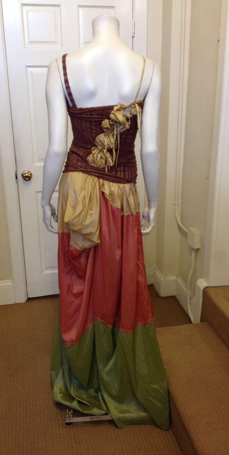 Women's Jean Paul Gaultier Multicolor Maxi Dress For Sale