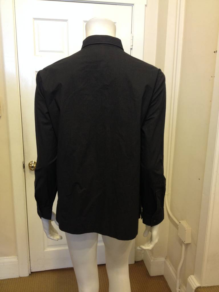 Women's Dries Van Noten Black Embellished Shirt For Sale