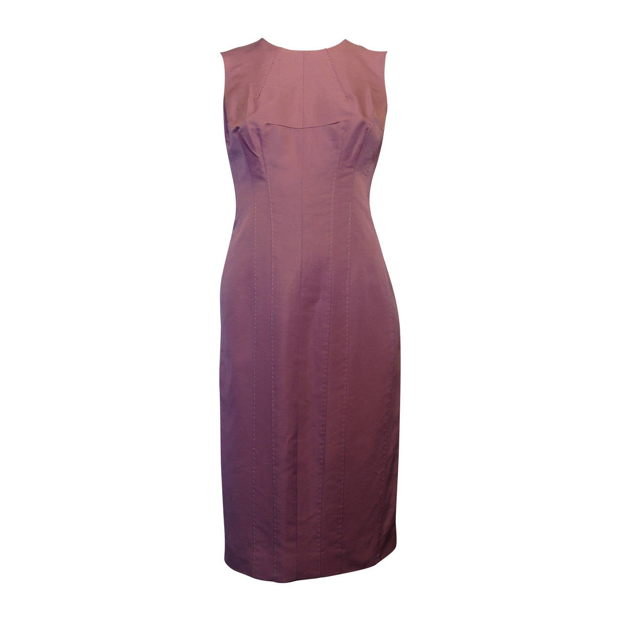 J. Mendel Lilac Sleeveless Shift Dress