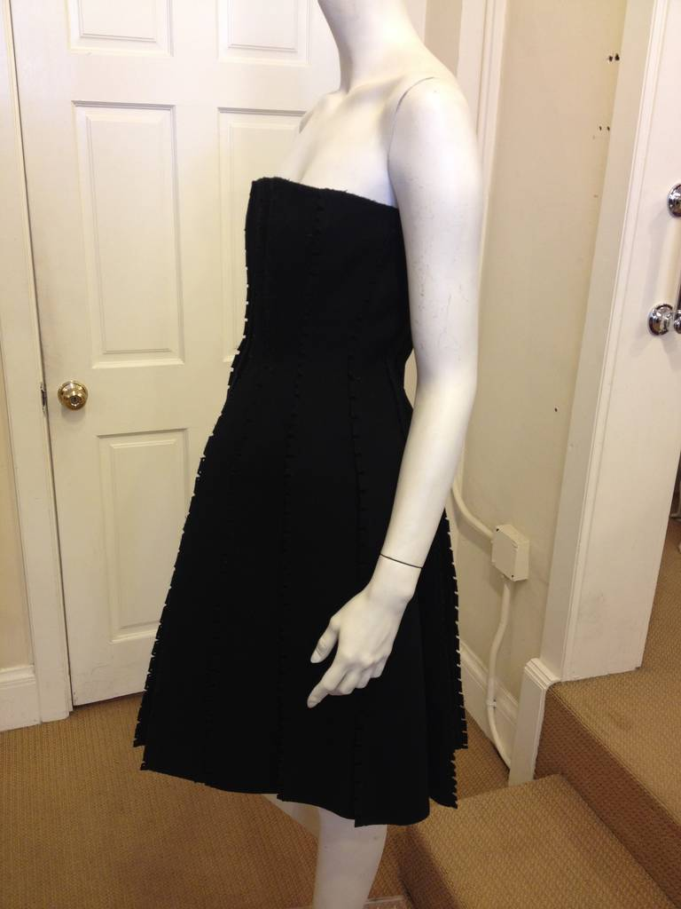 Loewe Black Strapless Dress In Excellent Condition For Sale In San Francisco, CA