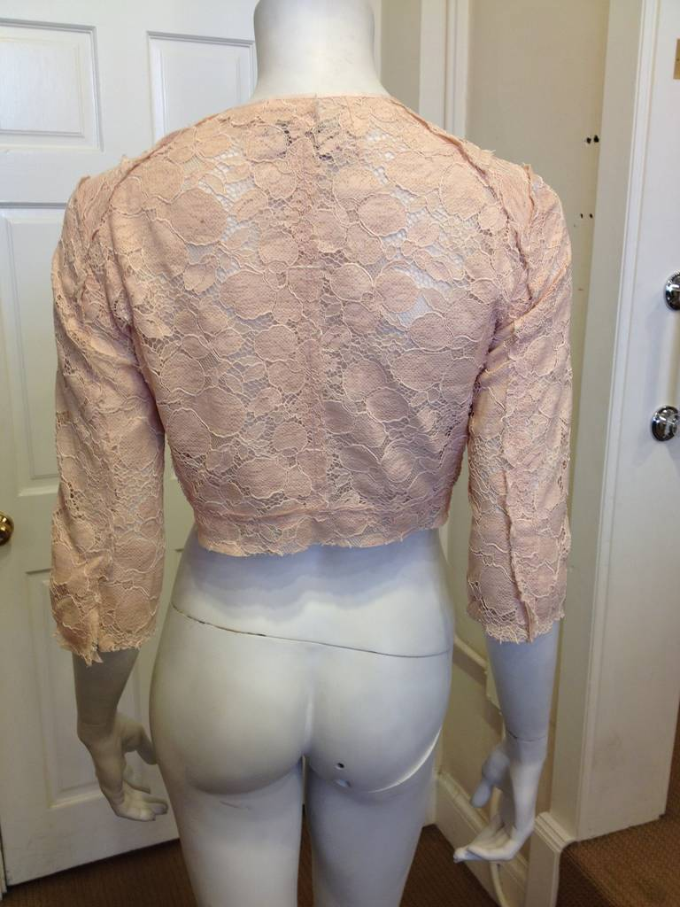 Nina Ricci Peach Lace Jacket 4