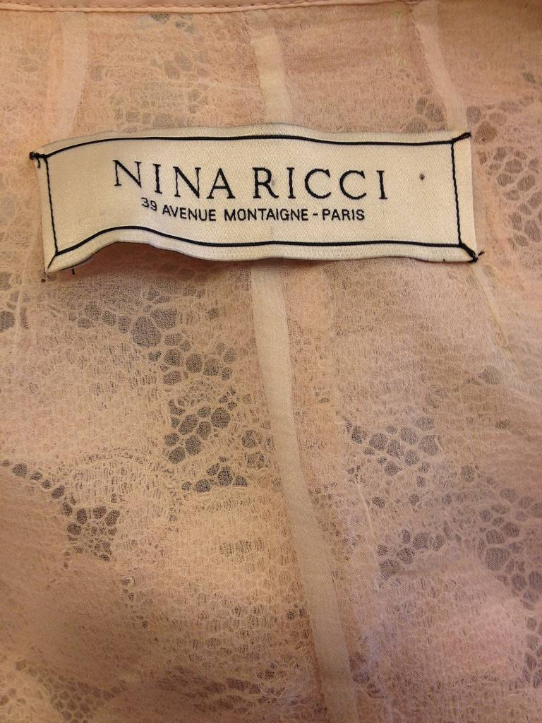 Nina Ricci Peach Lace Jacket 6