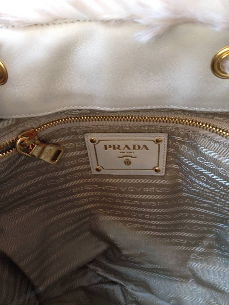 pink prada purse - Prada Faux Fur Backpack at 1stdibs