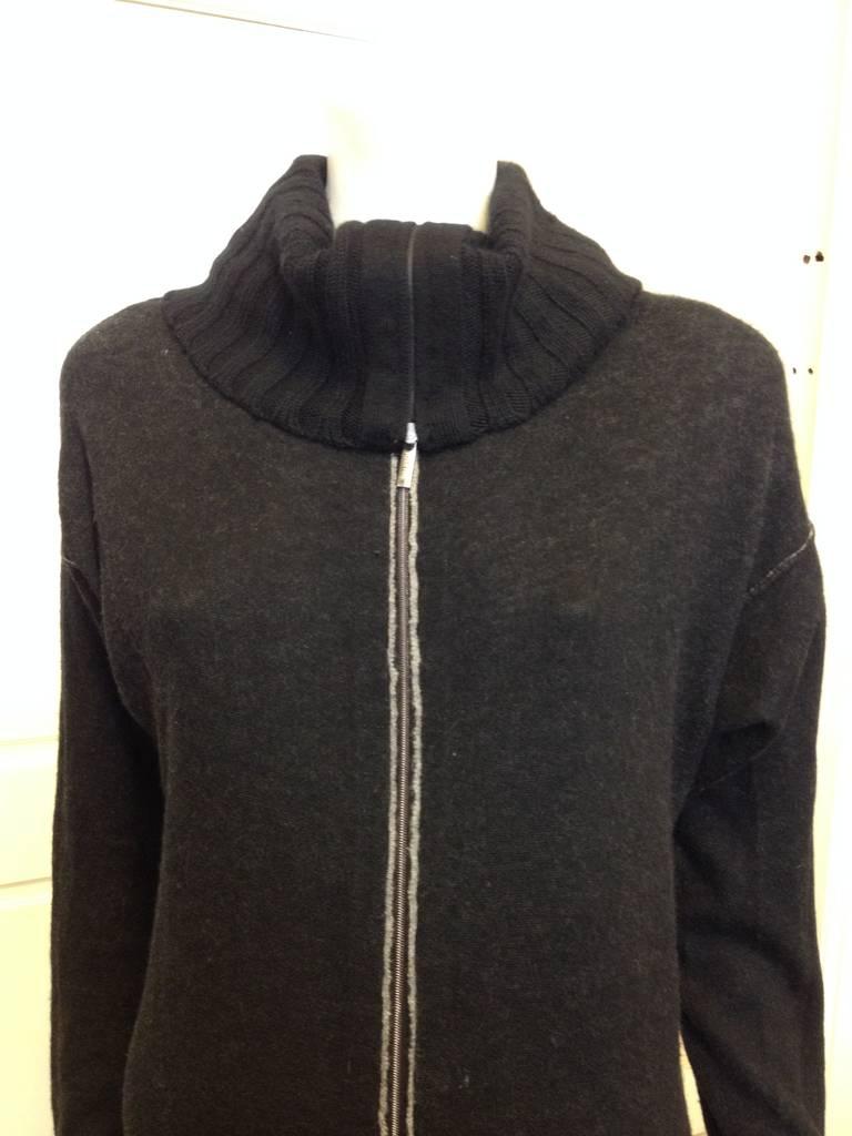 iris von arnim black cowlneck zip sweater at 1stdibs. Black Bedroom Furniture Sets. Home Design Ideas