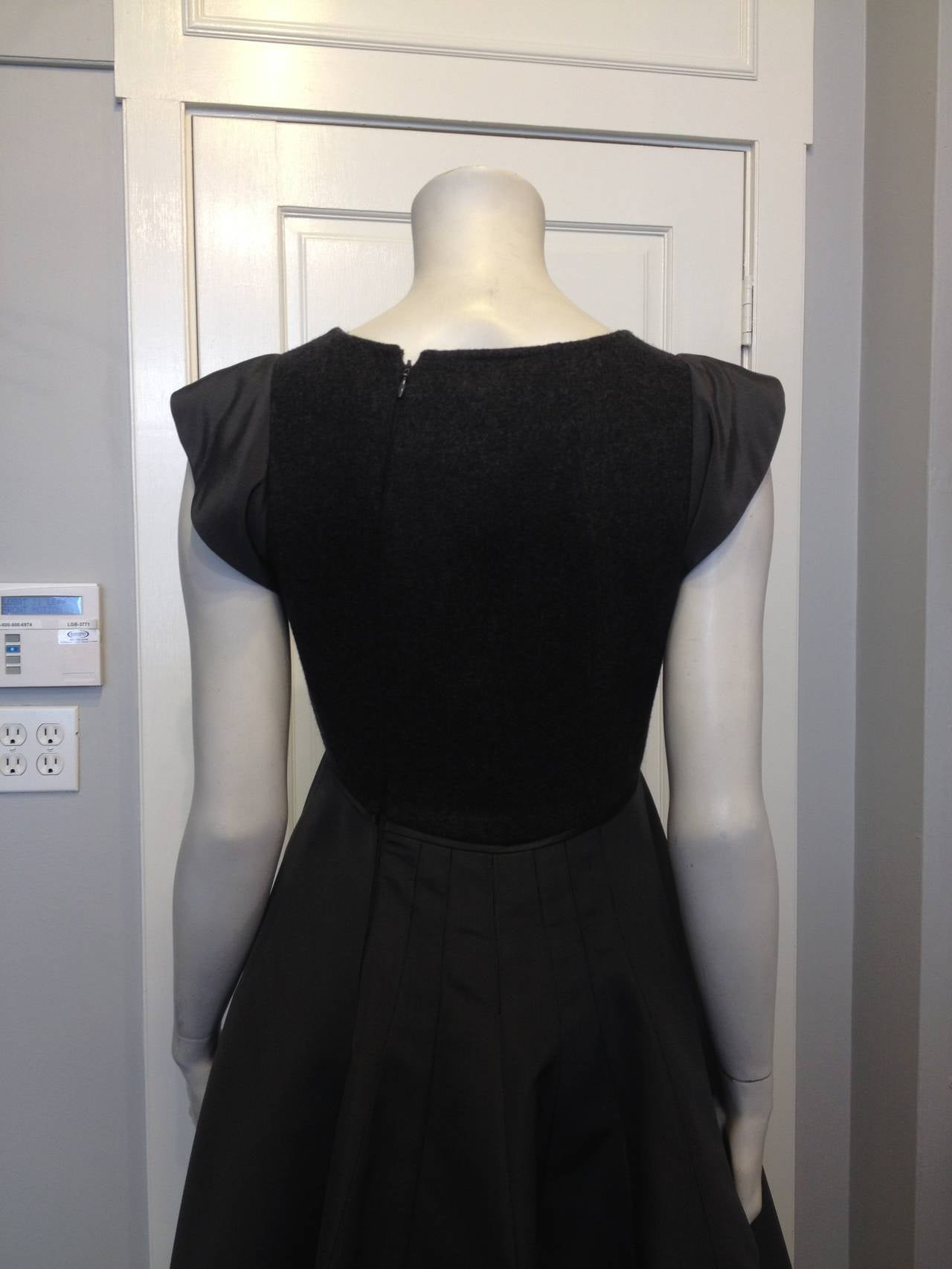 Chado Ralph Rucci Charcoal Cashmere and Silk Gown For Sale 2
