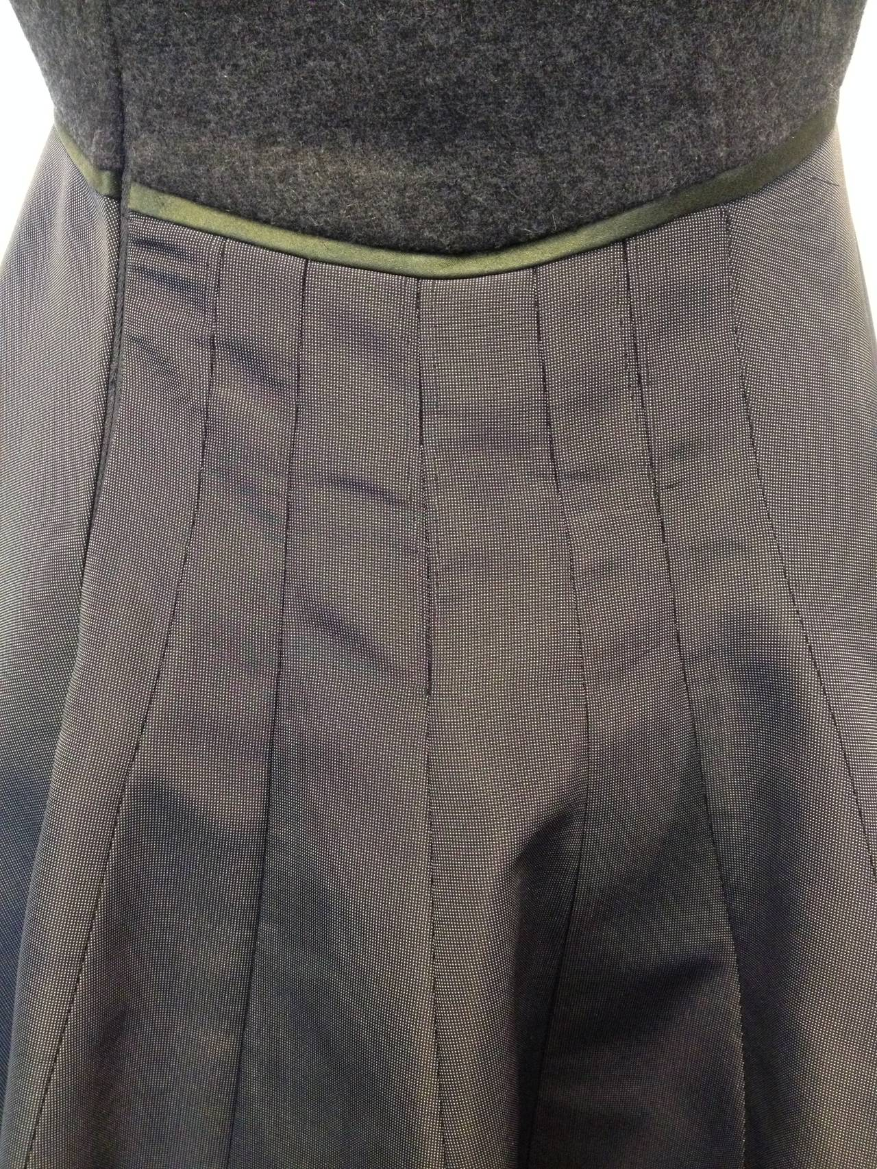Chado Ralph Rucci Charcoal Cashmere and Silk Gown For Sale 4