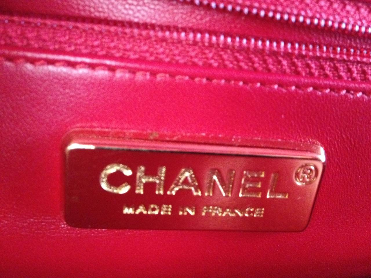 826af4bf6c808b Chanel Red Alligator Jumbo Classic Single Flap Bag For Sale 6