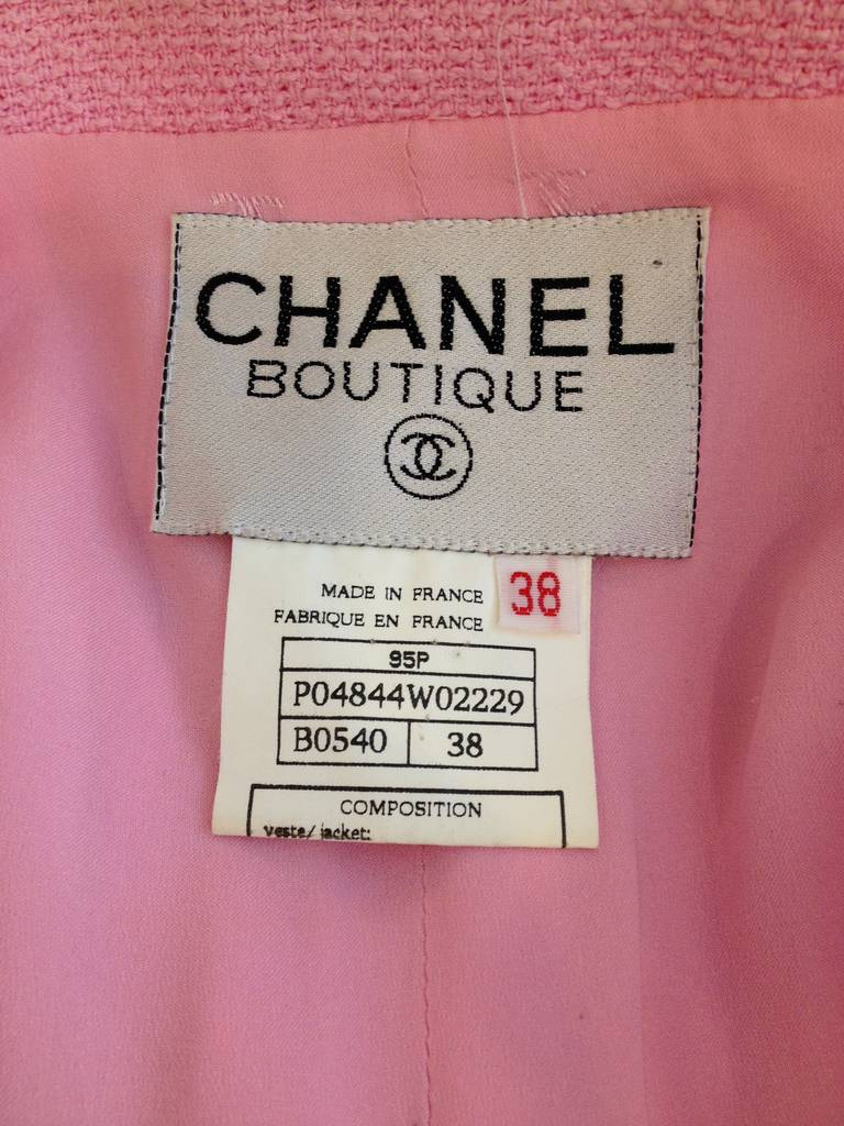 Chanel Pink and Black Cropped Jacket 6