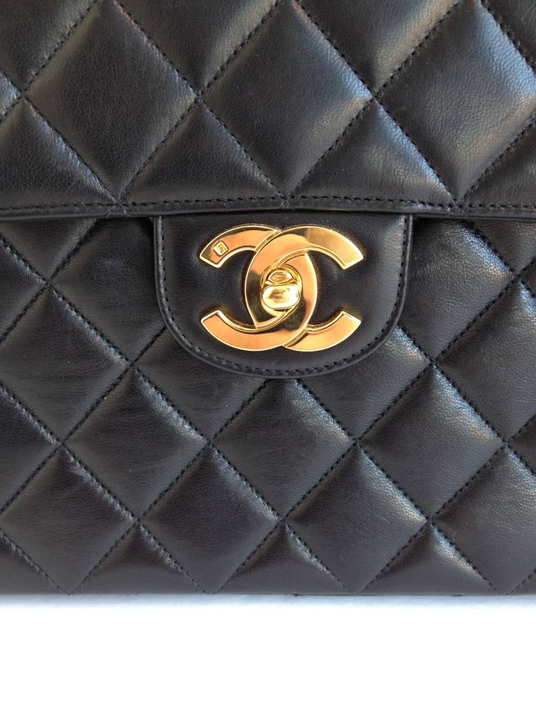 Chanel Black Classic Flap Bag 2