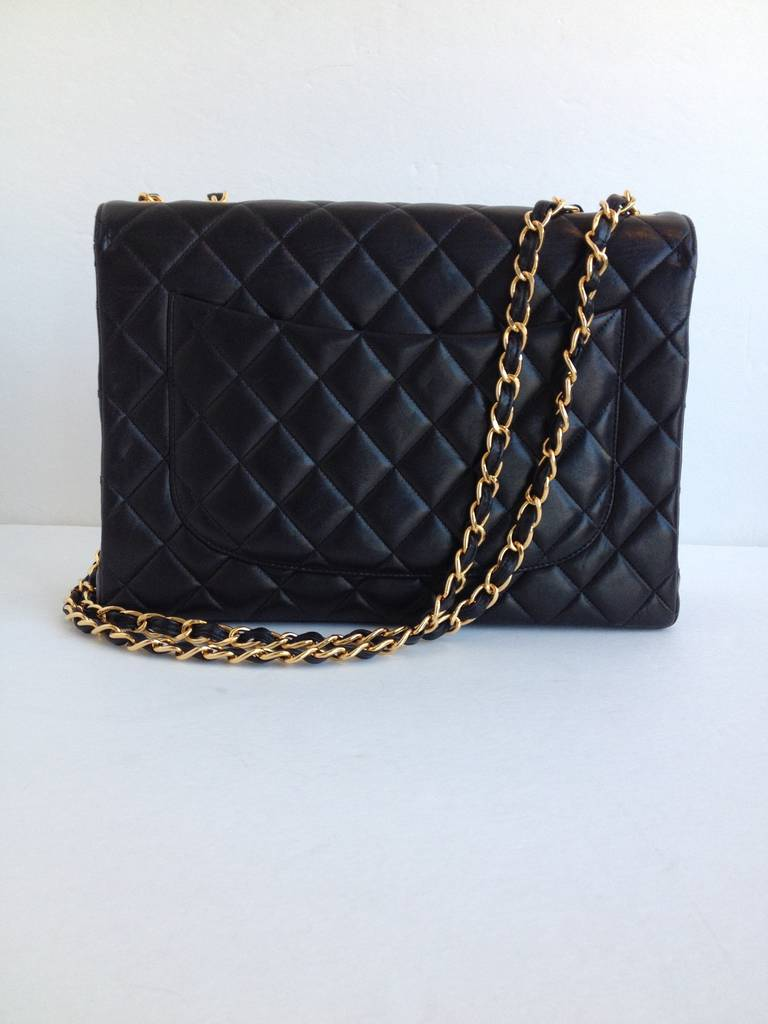 Chanel Black Classic Flap Bag 4