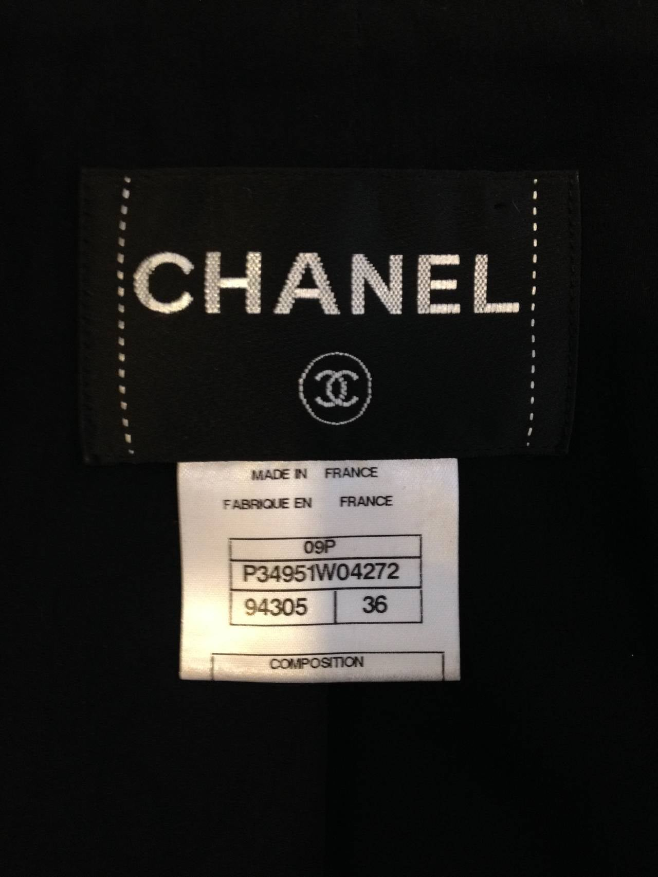 Chanel Black Tweed Jacket with Bell Sleeves For Sale 4
