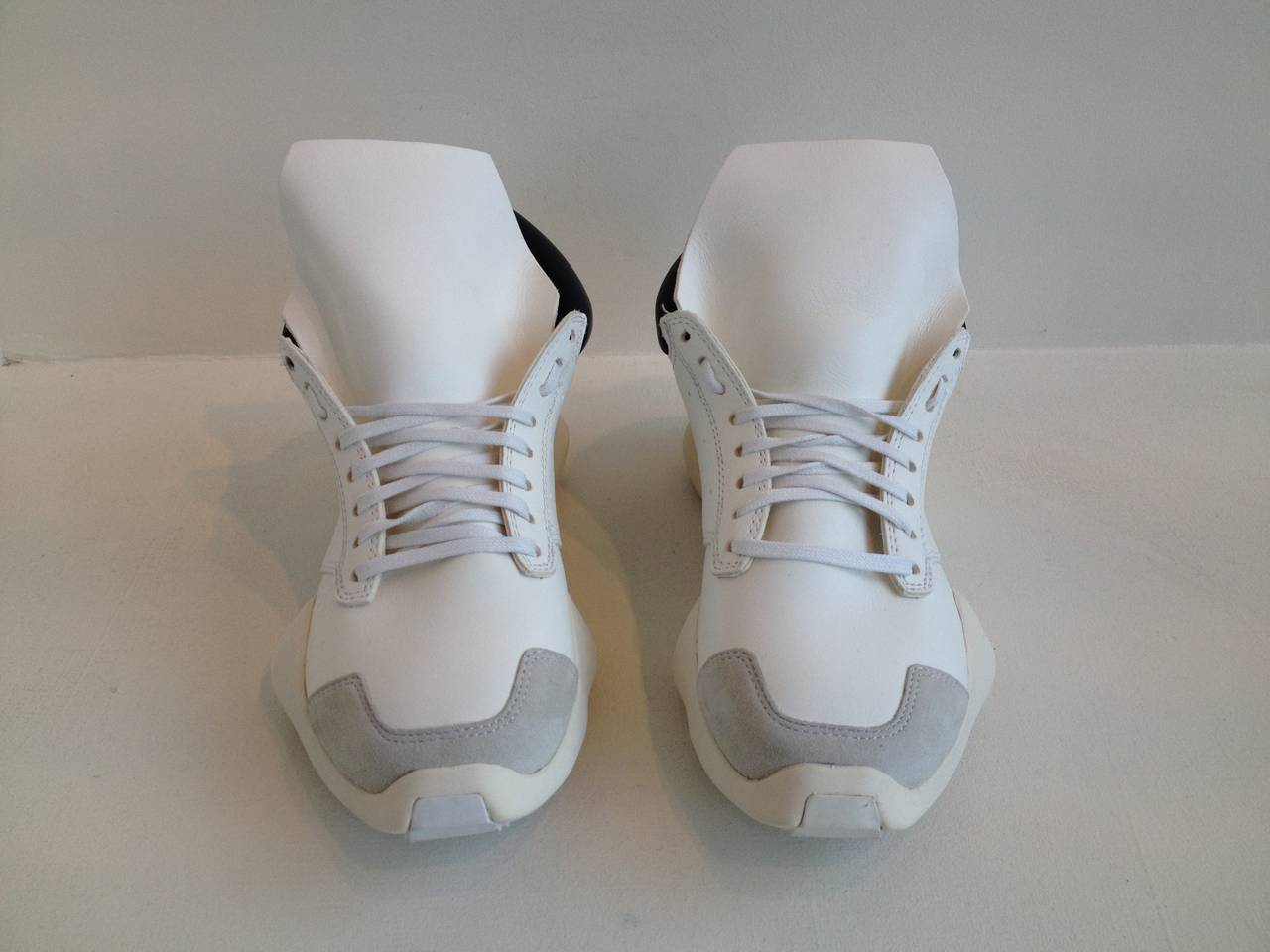 Rick Owens for Adidas White Puffy Sneakers 2