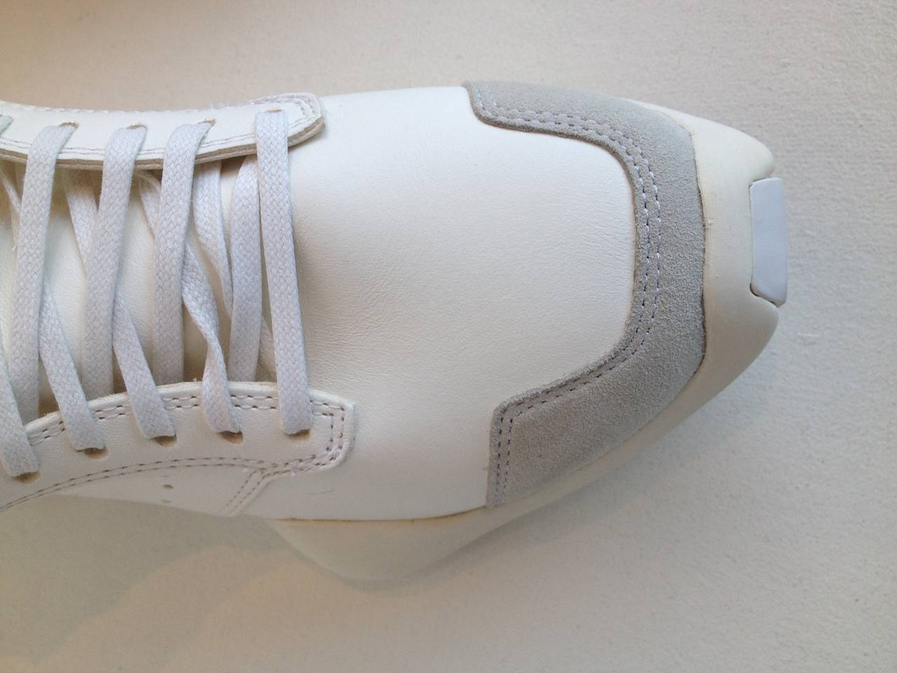 Women's or Men's Rick Owens for Adidas White Puffy Sneakers For Sale