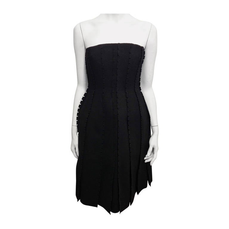 Loewe Black Strapless Dress For Sale
