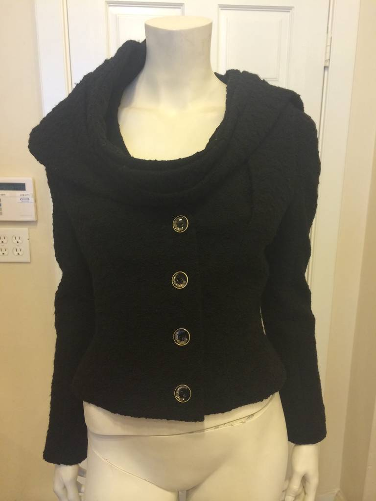 John Galliano Black Jacket with Wrap 7