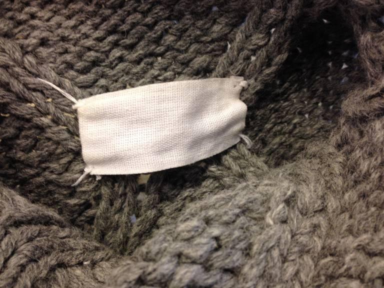 Maison Martin Margiela Grey Diamond Knit Sweater 6