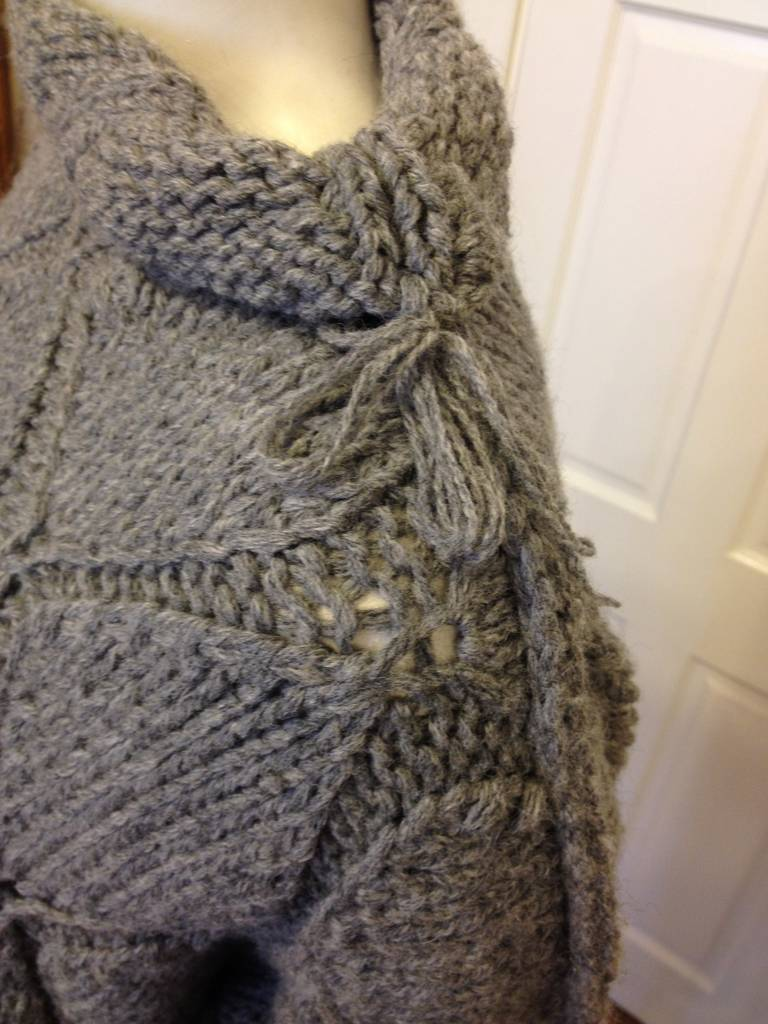 Maison Martin Margiela Grey Diamond Knit Sweater 5