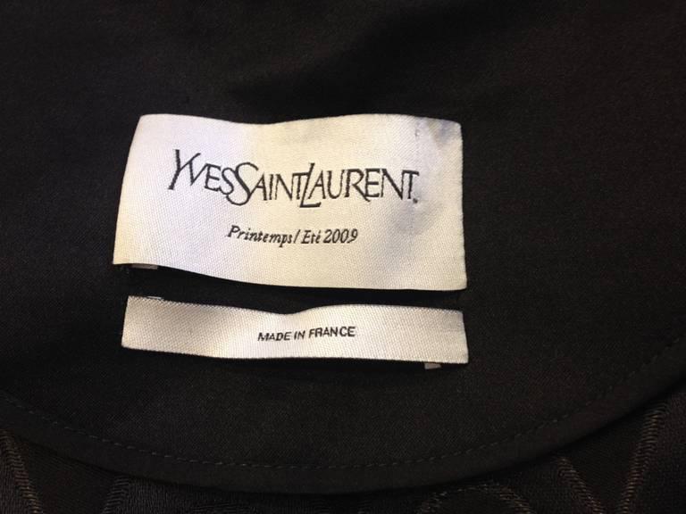 Yves Saint Laurent Black Satin Coat 6