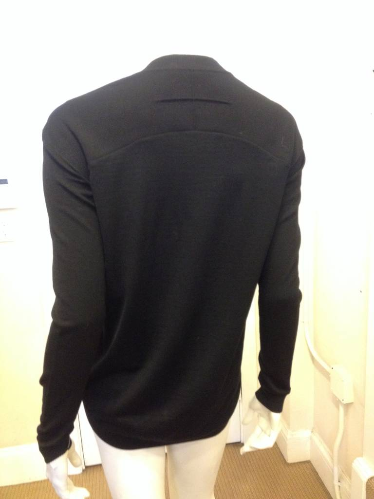 givenchy black v neck sweater at 1stdibs. Black Bedroom Furniture Sets. Home Design Ideas