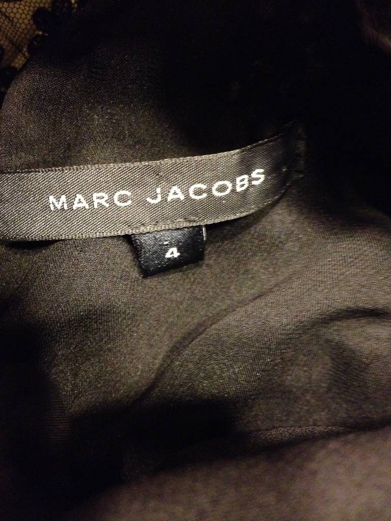 Marc Jacobs Black Lace and Chiffon Layered Dress For Sale 3