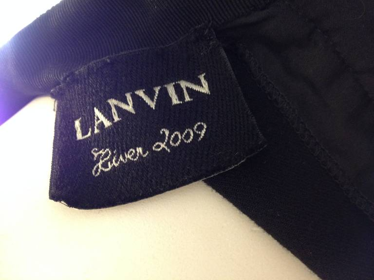 Lanvin Black Cocktail Dress with Bow For Sale 3