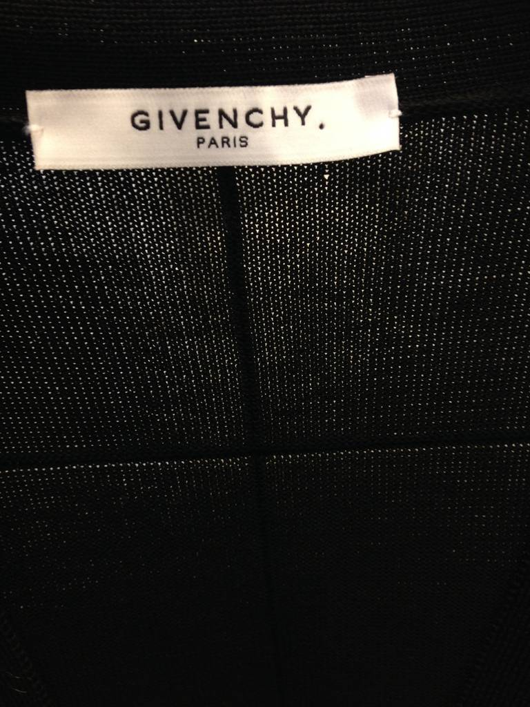 Givenchy Black Cardigan Dress with Silk Scarf Hem 6