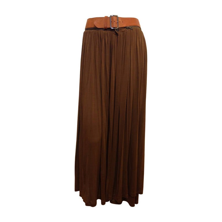jean paul gaultier brown skirt with leather belt at 1stdibs