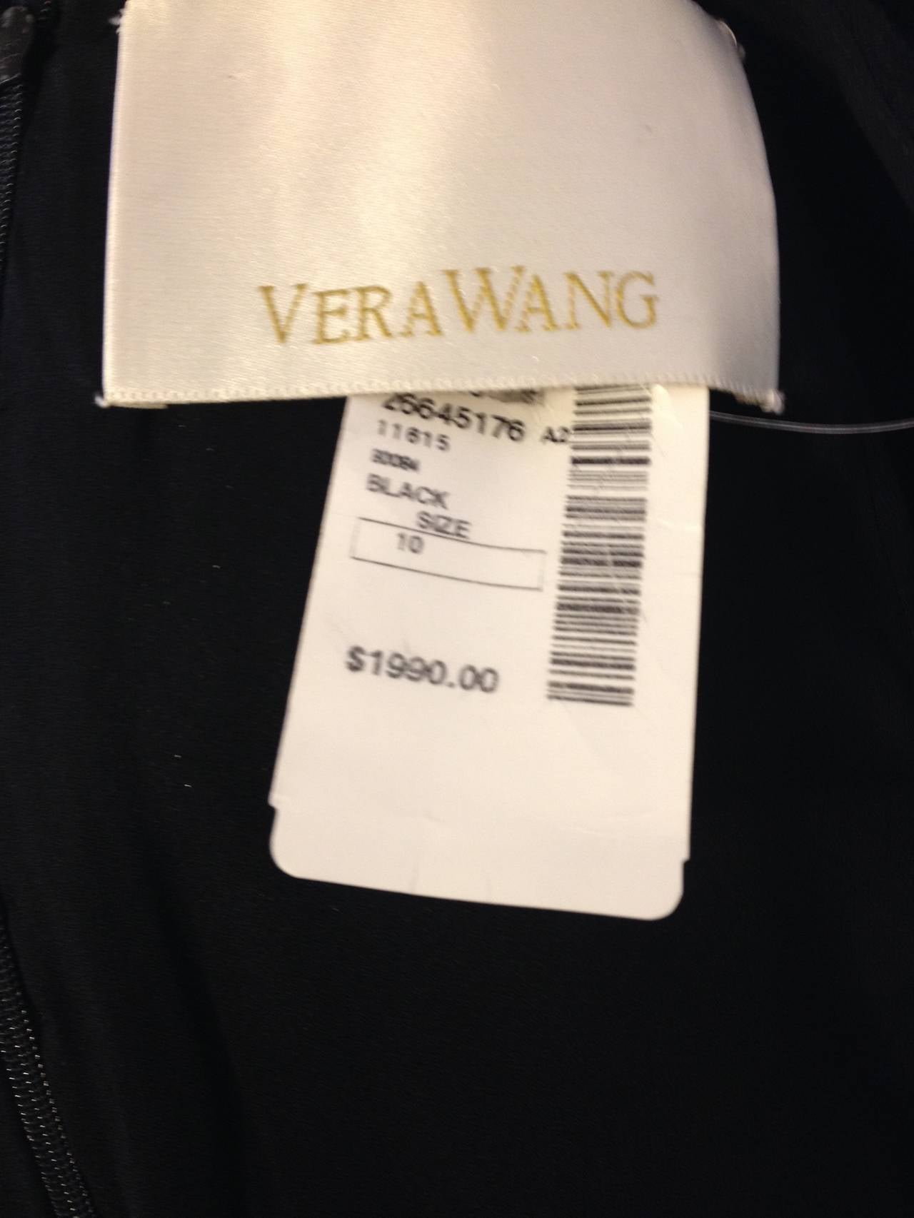 Vera Wang Black Skirt with White Sequin Detailing For Sale 1