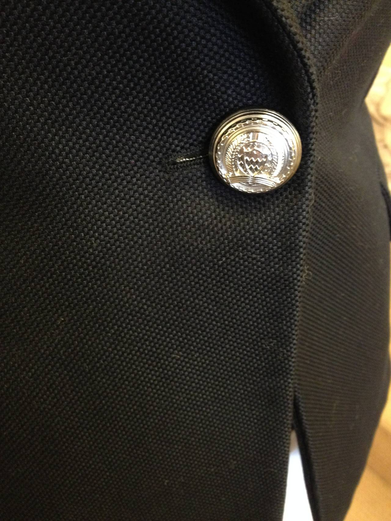 Balmain Black Blazer with Silver Buttons 2