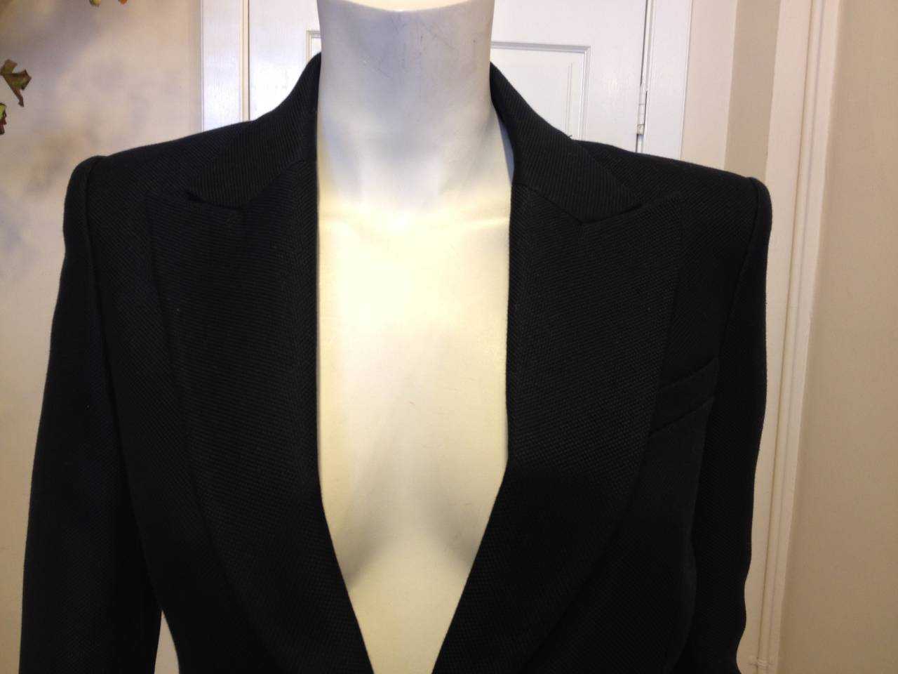 Balmain Black Blazer with Silver Buttons 3