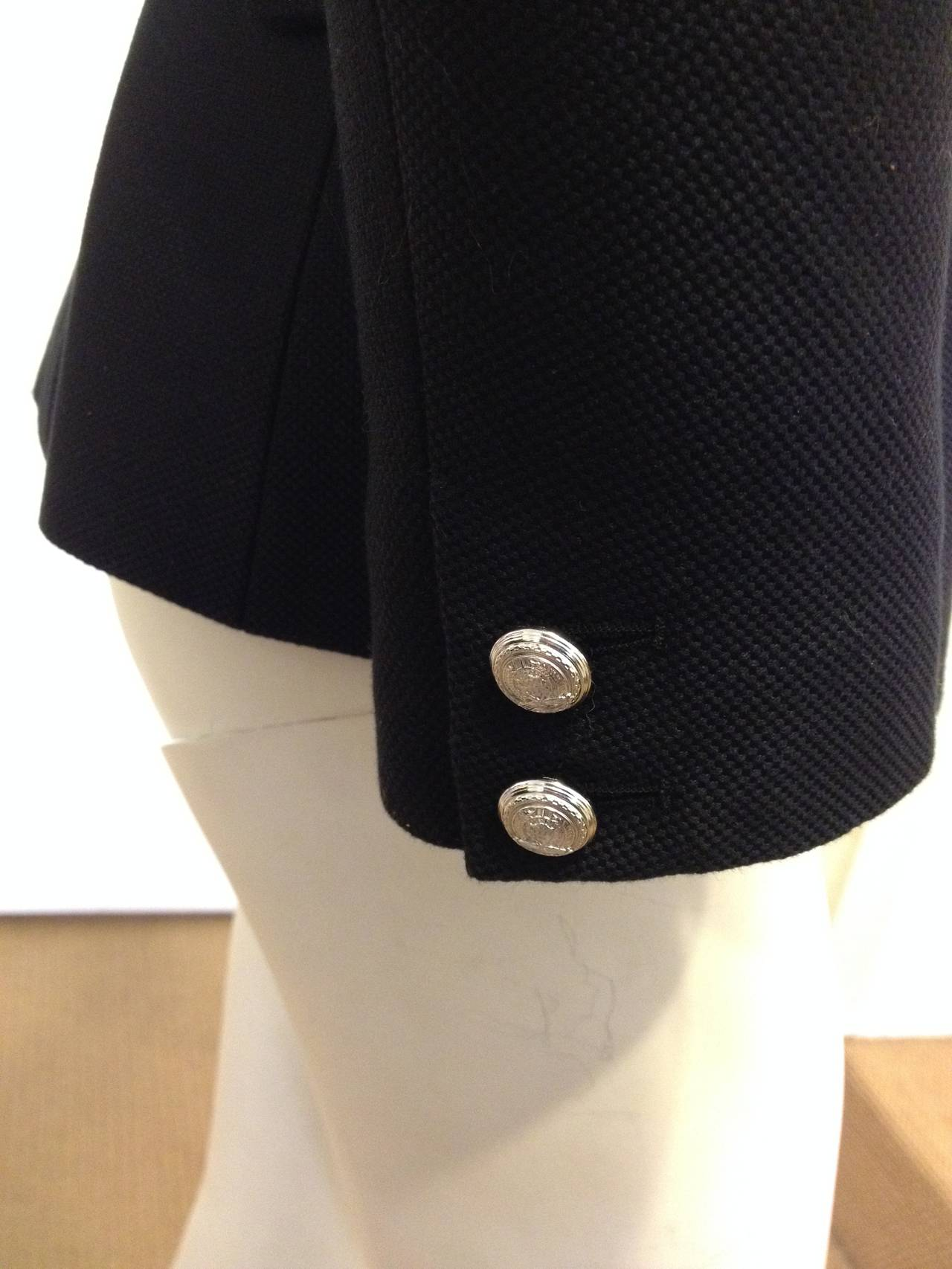 Balmain Black Blazer with Silver Buttons 5