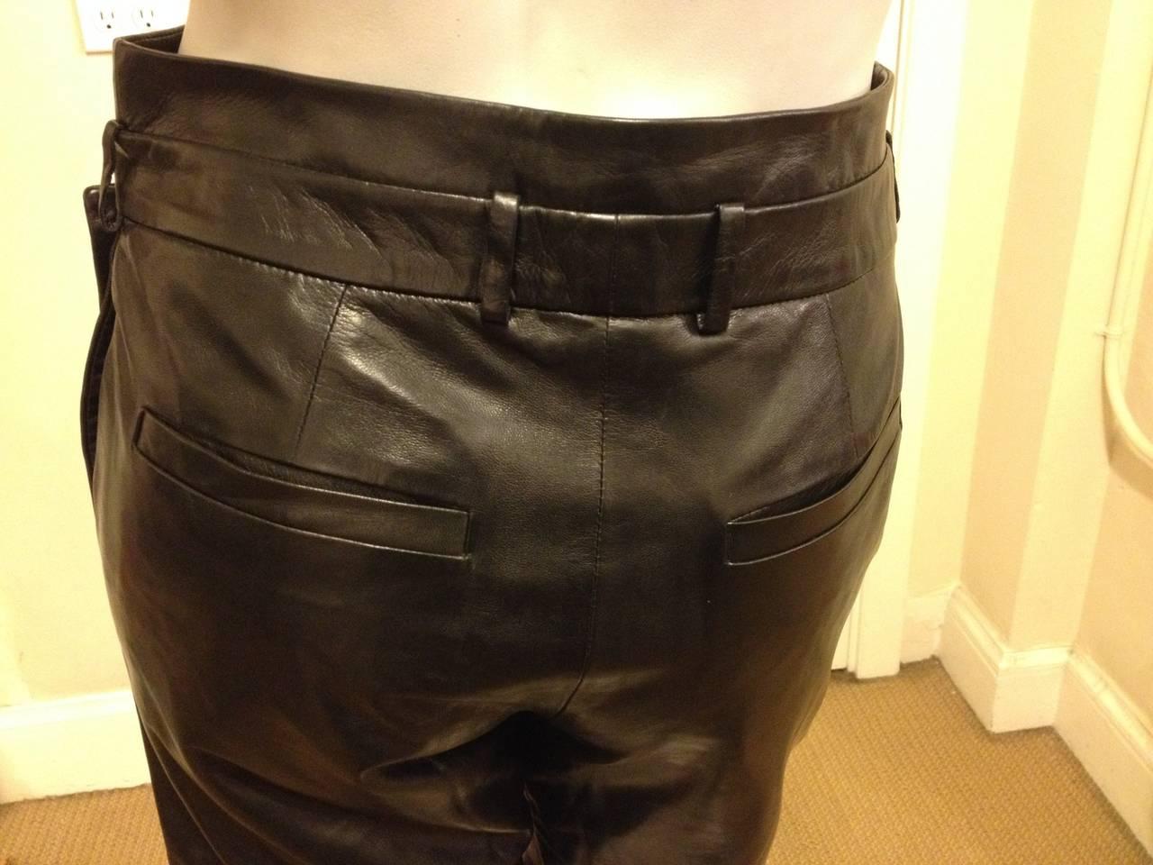 Women's Givenchy Black Leather Skort For Sale