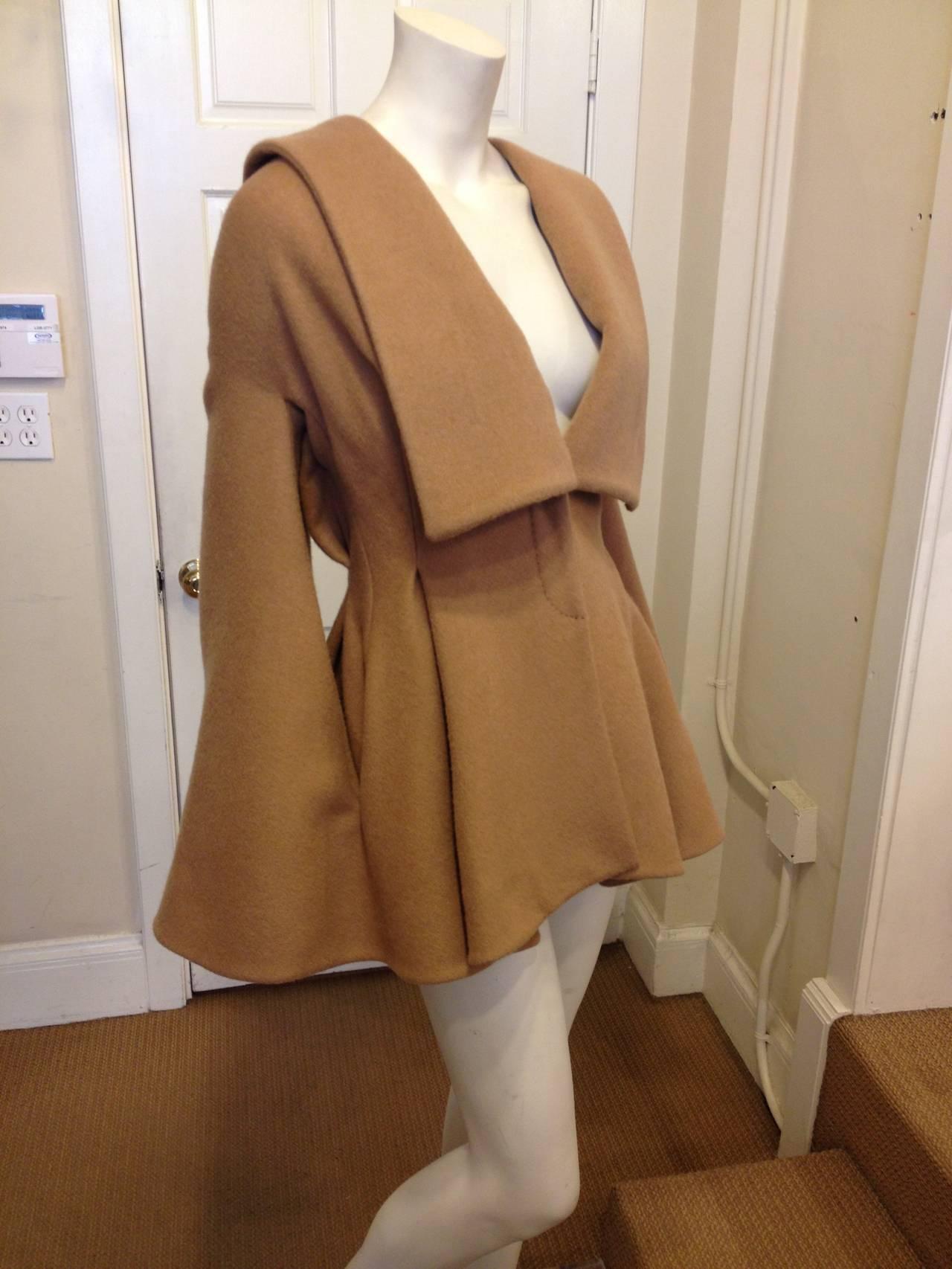 Alexander McQueen Camel Cape-Coat 2